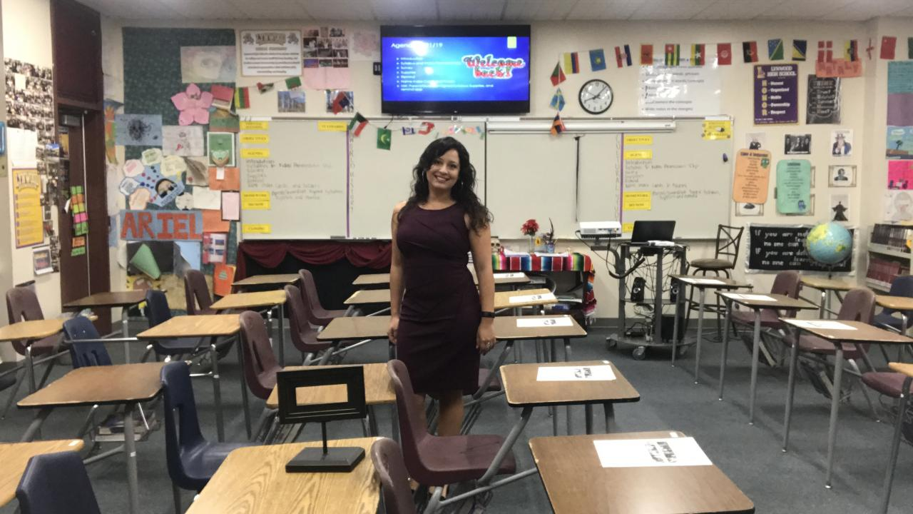 Ana Orozco in her classroom